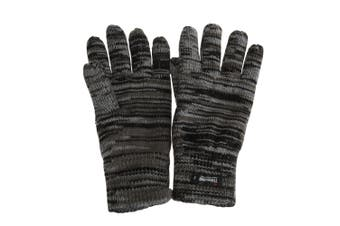 Mens Hawkins Collection Insulating Knit Winter Gloves (Grey) (One Size)