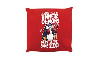 Psycho Penguin Inner Demons Cushion (Red) (One Size)