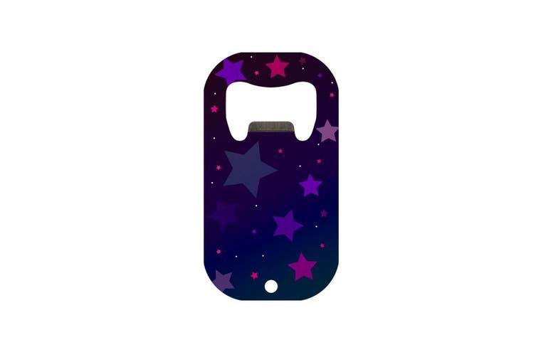 Grindstore Purple Stars Mini Bar Blade Bottle Opener (Purple) (One Size)