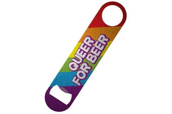 Grindstore Queer For Beer Bar Blade Bottle Opener (Rainbow) (One Size)