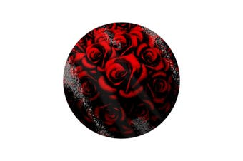Grindstore Red Roses Circular Glass Chopping Board (Red) (One Size)
