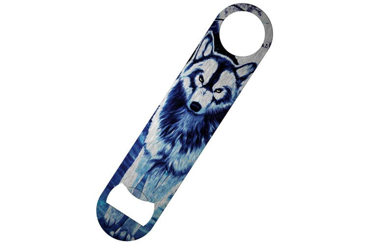 Requiem Collective Benithe Wolf Bar Blade Bottle Opener (Blue/White) (One Size)
