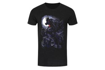 Requiem Collective Mens Prince Of Demons T-Shirt (Black) (Medium (38-40in))