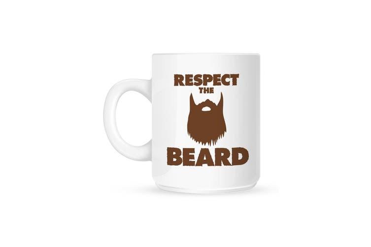 Grindstore Respect The Beard Mug (White) (One Size)