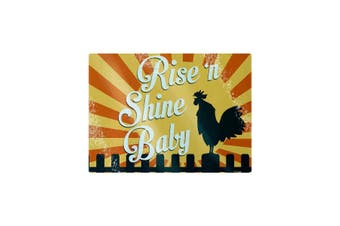 Grindstore Rise ´N Shine Baby Glass Chopping Board (Yellow) (One Size)