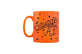 Grindstore Savage AF Neon Mug (Orange) (One Size)