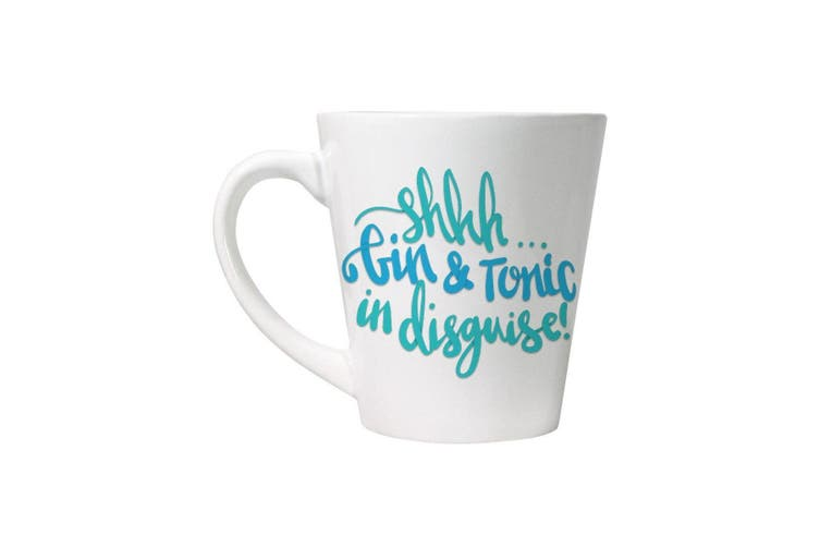 Grindstore Shhh Gin & Tonic In Disguise Latte Mug (White) (One Size)