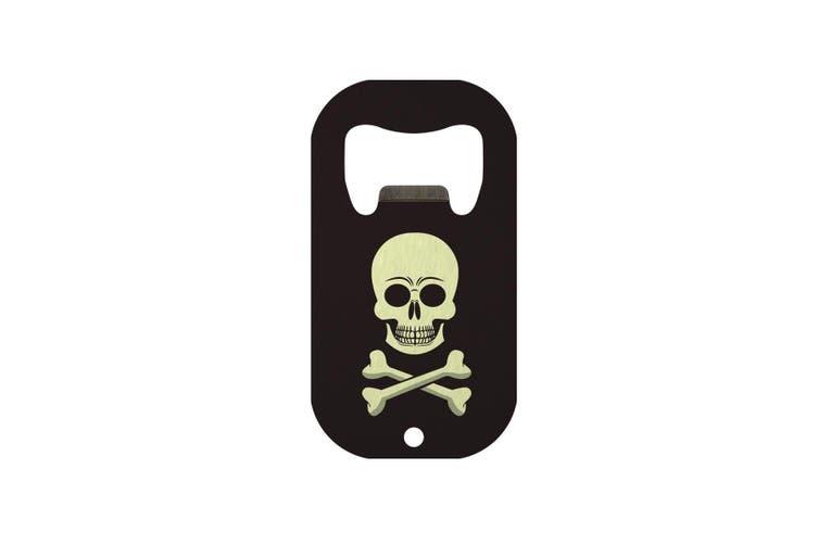 Grindstore Skull & Crossbones Mini Bar Blade Bottle Opener (Black) (One Size)