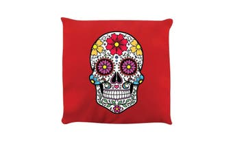 Grindstore Sugar Skull Cushion (Red) (One Size)