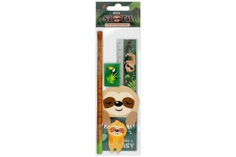 Grindstore Take It Easy Sloth Stationery Set (Multicoloured) (One Size)