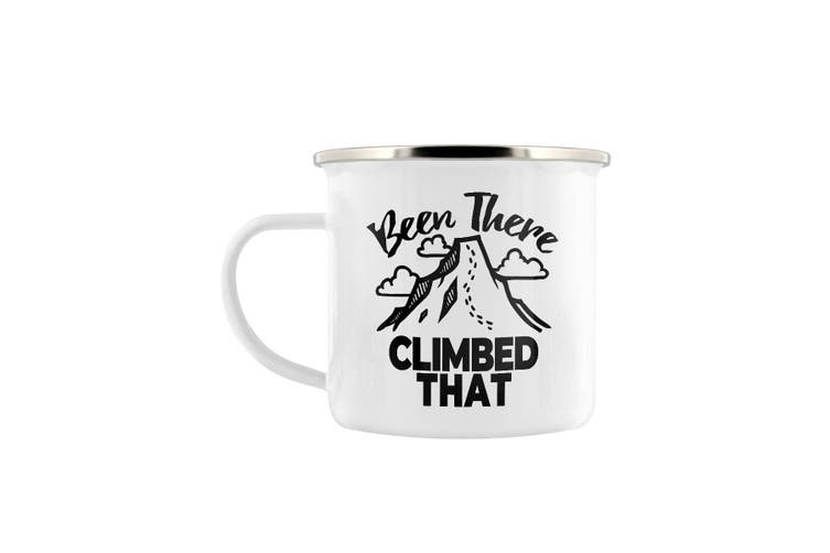 Grindstore Been There Climbed That Enamel Mug (White/Black) (One Size)