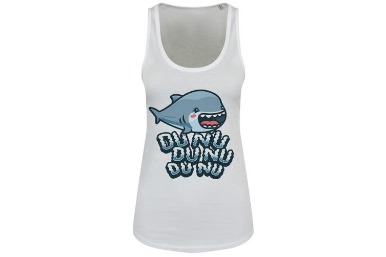 Grindstore Womens/Ladies Cute Shark Attack Floaty Tank (White) (L)