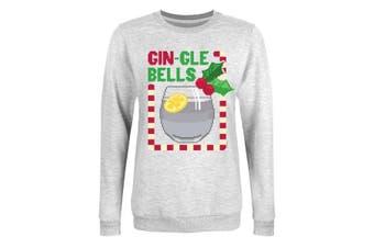 Grindstore Womens/Ladies Gin Gle Bells Christmas Jumper (Grey) (XXL)