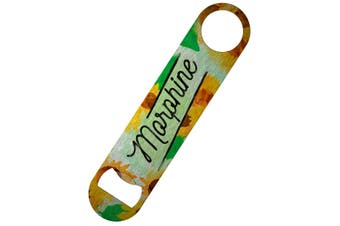 Deadly Detox Morphine Bar Blade Bottle Opener (Green/Yellow) (One Size)