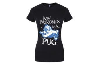 Grindstore Womens/Ladies My Patronus Is A Pug T-Shirt (Black) (M)