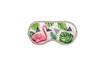 Grindstore Flamingo Foliage Eye Mask (White) (One Size)