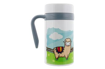 Grindstore Happy Llamas Thermal Travel Mug With Handle (White) (One Size)