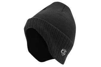 Adults Unisex Thermal Knitted Winter Ski/Winter Hat With Lining (shaped To Cover Ears) (Charcoal) (One Size)