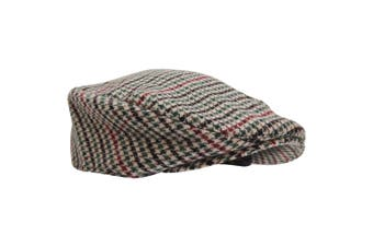 Mens Tweed Wool Blend Flat Cap (Design 4) - UTHA339