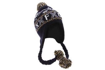 Unisex Fairisle Pattern Oxford Peruvian Winter Hat (Navy) (One Size)