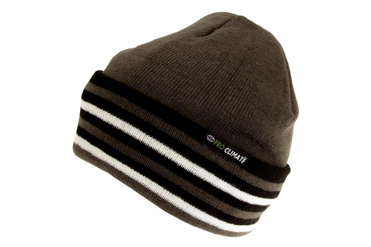 ProClimate Adults Unisex Thermal Hat (Charcoal) (One Size)