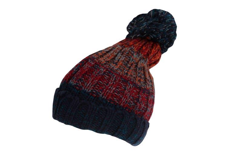 Rock Jock Womens/Ladies Winter Hat With Pom Pom (Burgundy) (One Size)