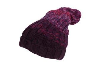Rock Jock Womens/Ladies Winter Hat With Pom Pom (Purple) (One Size)