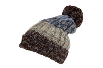 Rock Jock Womens/Ladies Winter Hat With Pom Pom (Brown) (One Size)