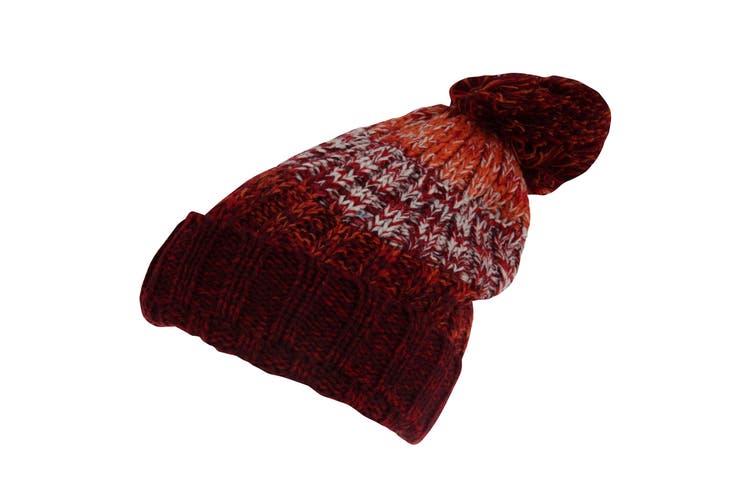 Rock Jock Womens/Ladies Winter Hat With Pom Pom (Maroon) (One Size)