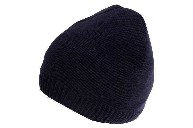 HeatGuard Mens Knitted Thinsulate Beanie Hat (Navy) (M-L)