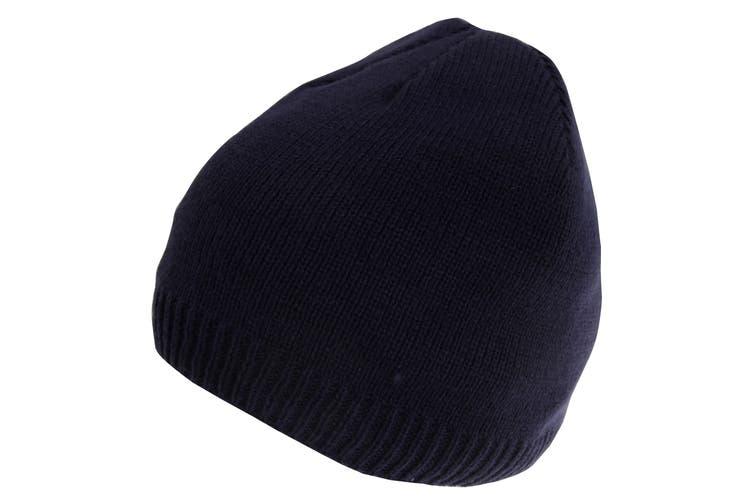 HeatGuard Mens Knitted Thinsulate Beanie Hat (Navy) (L-XL)