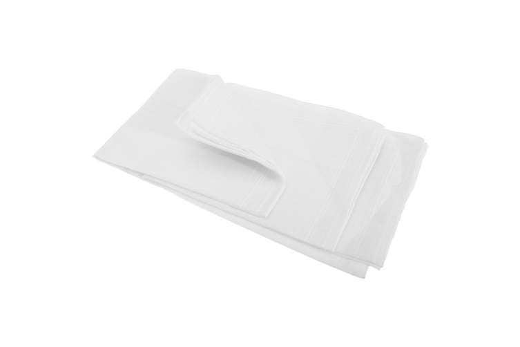 Mens Plain Cotton Rich Handkerchiefs (Pack Of 5) (White) (5 Pack)