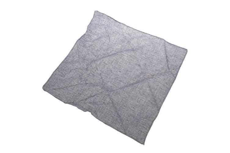 Harvey James Mens Cotton Handkerchiefs (Pack Of 3) (White/Grey) (One Size)