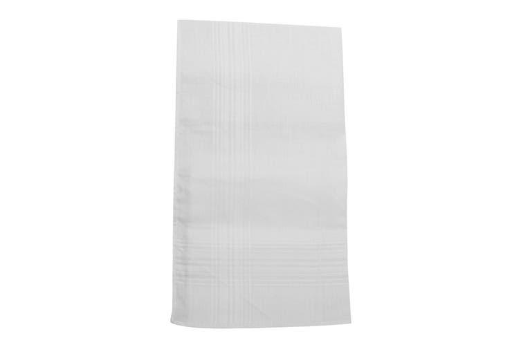 Tom Franks Mens Cotton Handkerchiefs (Pack Of 3) (Plain White) (One Size)