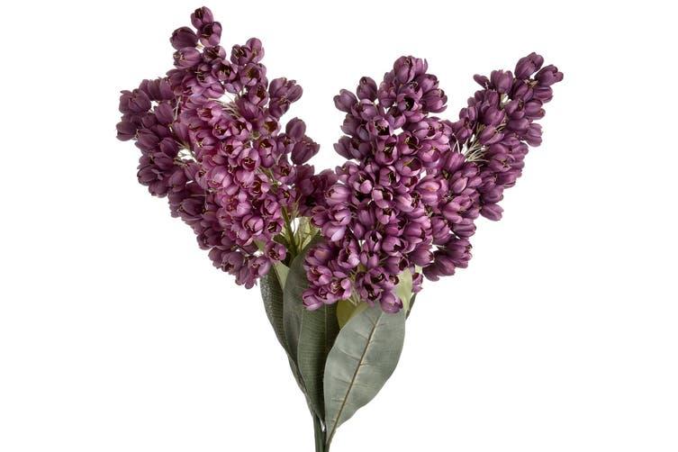 Hill Interiors Faux Phoenix Flower (Purple/Green) (One Size)