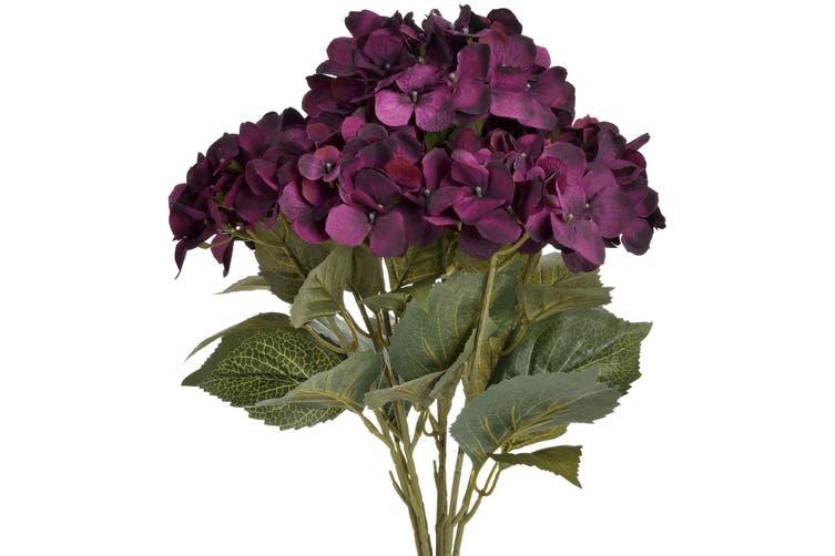 Hill Interiors Faux Hydrangea Bouquet (Purple/Green) (One Size)