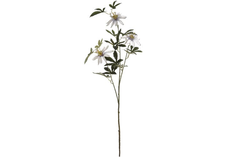 Hill Interiors Artificial Passion Flower Spray (White) (One Size)