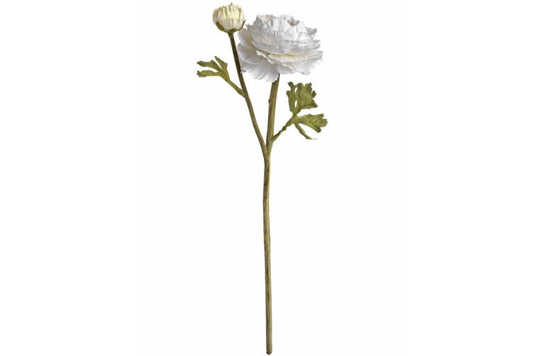Hill Interiors Artificial Ranunculus Spray (White) (One Size)