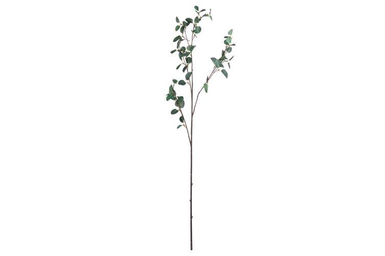 Hill Interiors Artificial Tall Eucalyptus Stem (Dark Green) (One Size)