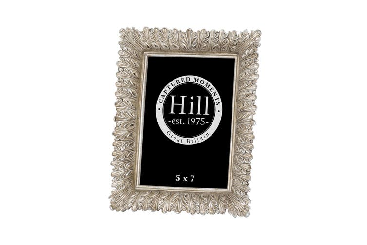 Hill Interiors Antiqued Feather Effect Style Photo Frame (Silver/Gold) (8 x 10in)