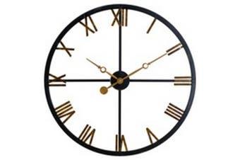 Skeleton Station Clock (Black/Gold) (One Size)