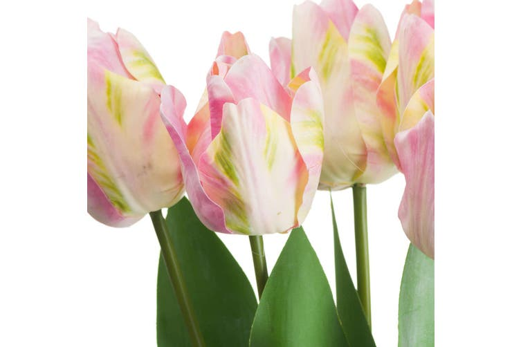 Hill Interiors Artificial Pink And Green Tulip (Pink/Green) (One Size)