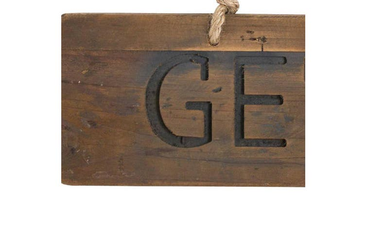 Hill Interiors Get Naked Rustic Wooden Plaque (Brown) (One Size)