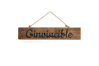 Hill Interiors Ginvincible Rustic Wooden Message Plaque (Brown) (One Size)