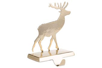 Hill Interiors Stag Stocking Holder (Brass) (One Size)
