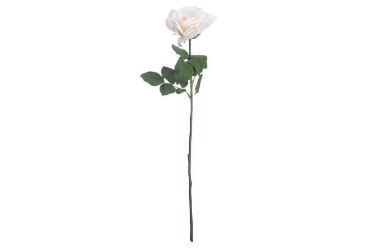 Hill Interiors Artificial Silk Garden Rose Flower (White) (One Size)
