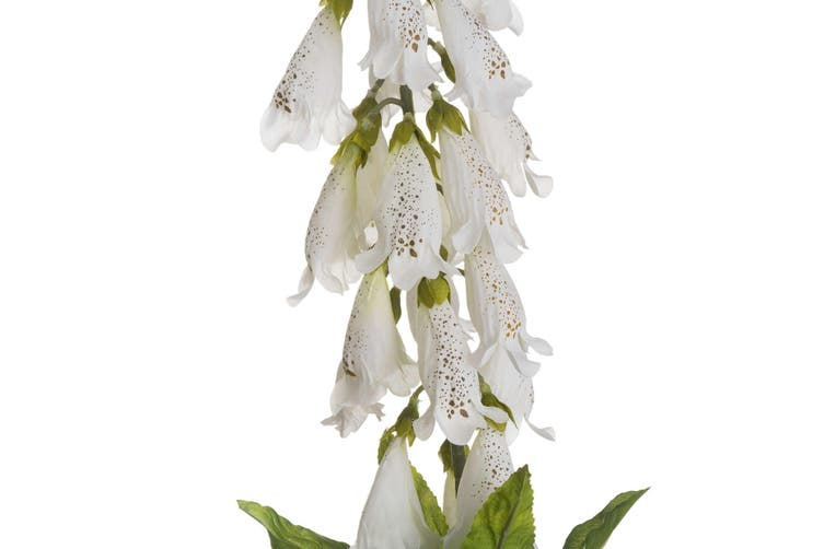 White Foxglove Artificial flower (White) (One Size)
