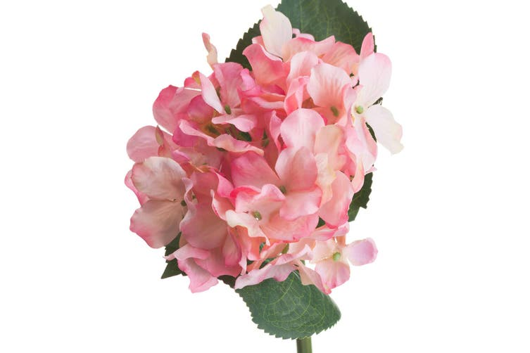 Hill Interior Artificial Posy Hydrangea (Pink) (One Size)