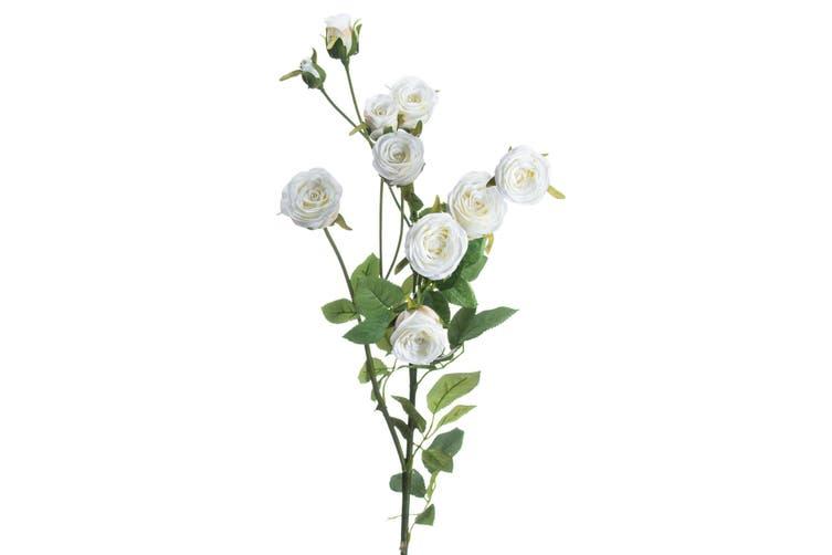 Hill Interiors Classic Spray Rose (White) (82 x 30cm)