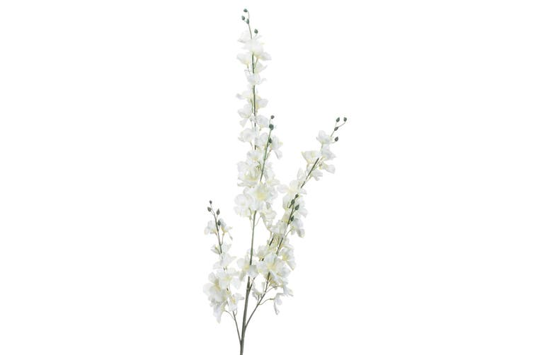 Hill Interiors Artificial Delphinium Flowers (White) (One Size)